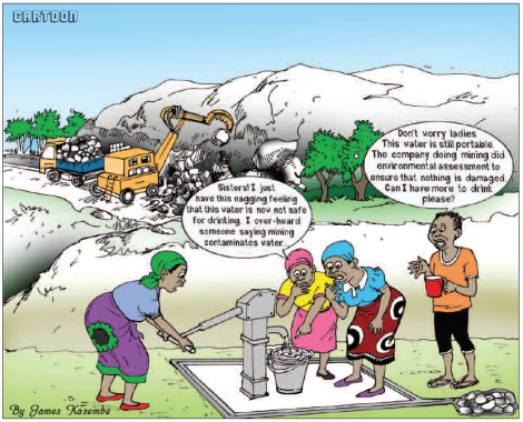 201804 Malawi Mining & Trade Review Cartoon ESIA Mining Sovereign Metals