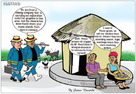 201806 Malawi Mining & Trade Review Sovereign Metals Community Cartoon