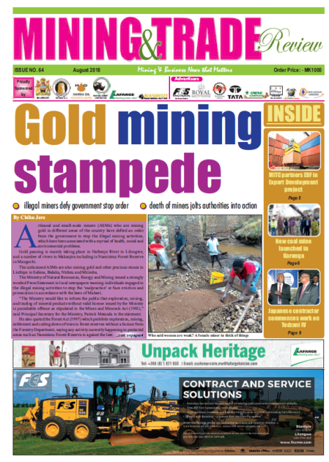 201808 Malawi Mining & Trade Review Cover Gold ASM