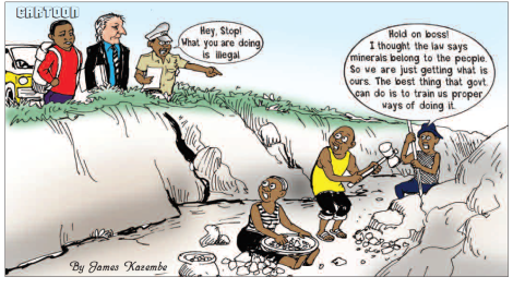 201808 Malawi Mining & Trade Review Gold ASM Cartoon