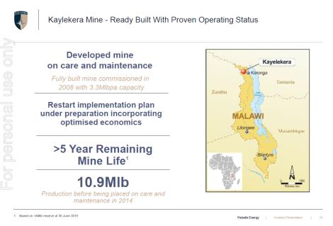 201808 Paladin Investor Presentation Slide 14 Kayelekera