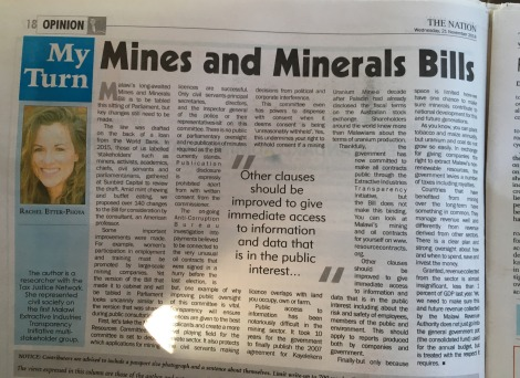 REtterPhoya The Nation on the Mines and Minerals Bill