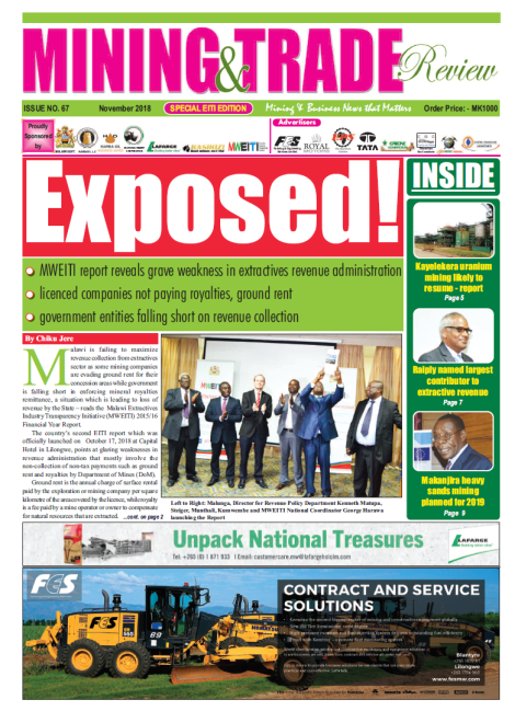 Exposed! Malawi EITI report reveals grave weakness in extractives