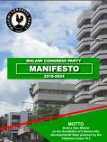 MCP Manifesto 2019 Front Page